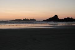 太平洋に陽が沈む