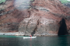 見島に到着。 40キロ漕いで、かなりいい運動でした。