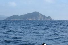今日のキャンプ地の無人島