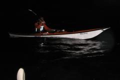 真っ暗闇。伴走船はありません。夜光虫にテンション上がります↑↑