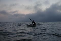 海の上で夜が明ける。
