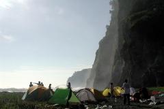 ツーリング最後のキャンプ地。 周りに人はいません