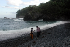 ツアーの帰りに立ち寄った碁石海岸
